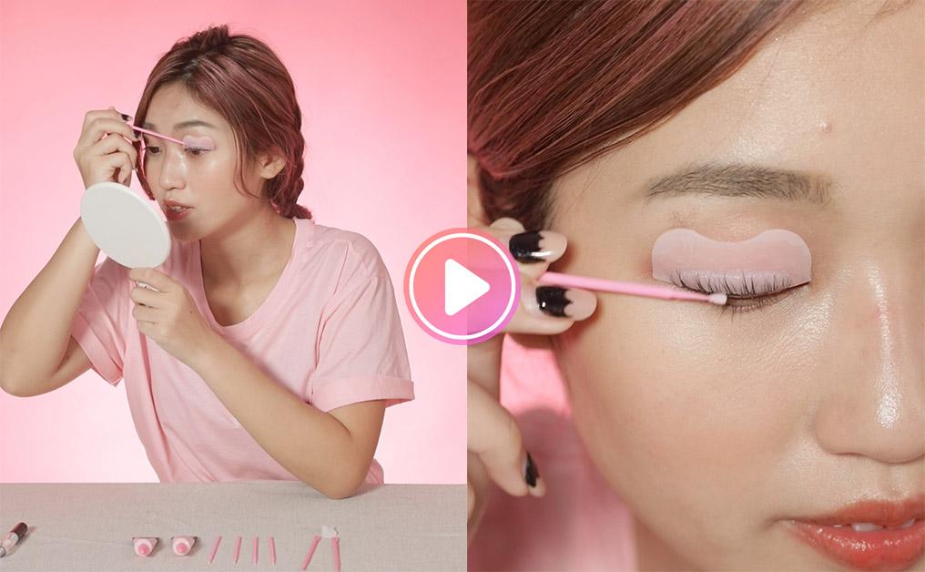 【編輯挑戰自己電睫毛】拯救下垂睫毛!韓國家用電睫毛套裝電出角蛋白捲翹睫毛效果?